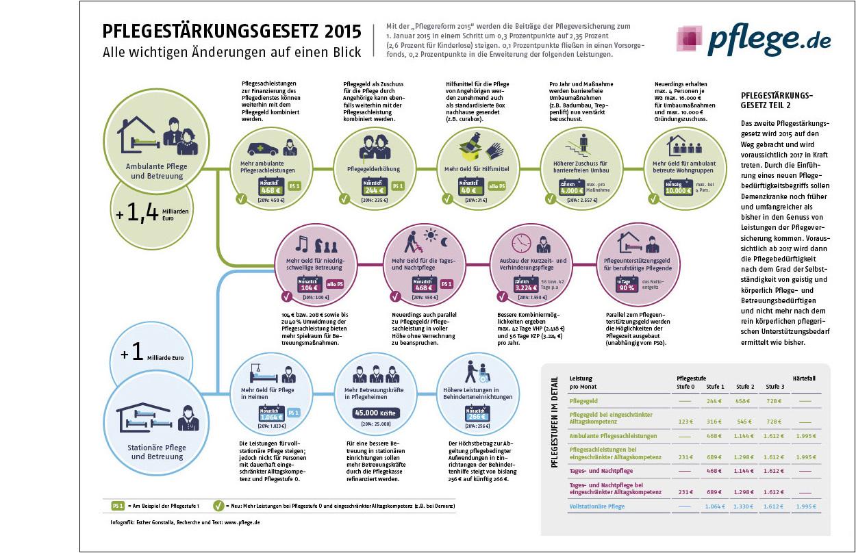 Erdgeschoss Grafik | Esther Gonstalla | Infografik | PFLEGE.de – Reform 2015