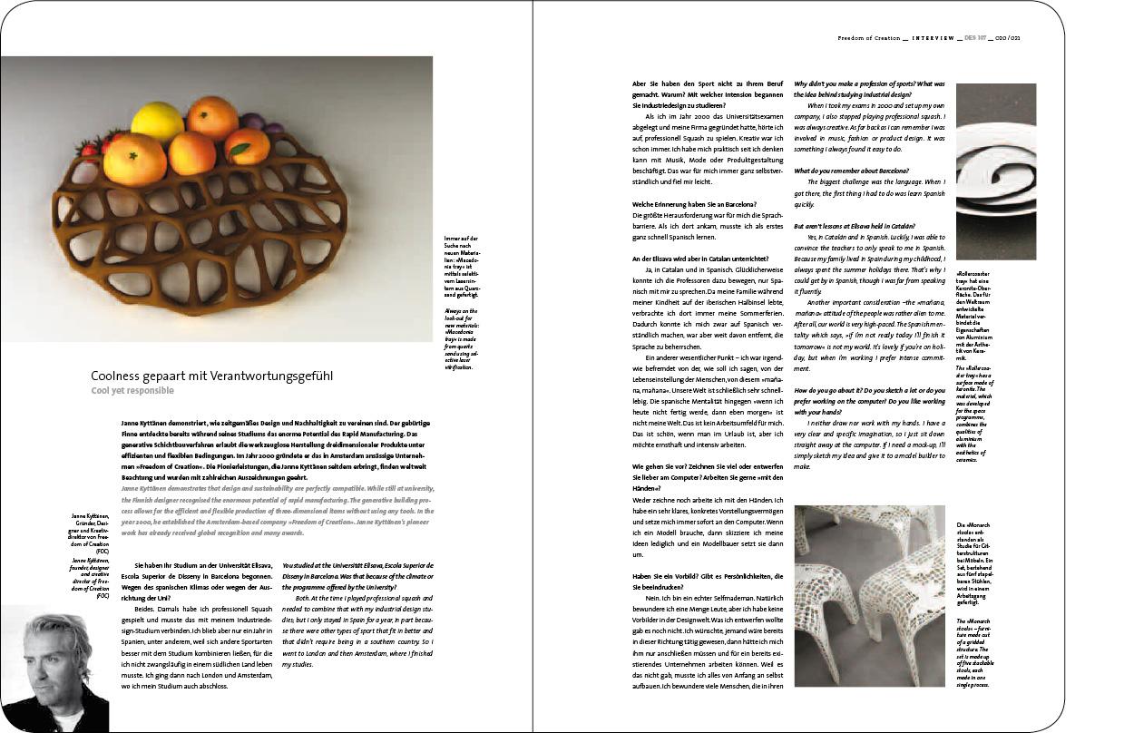 Erdgeschoss Grafik | Esther Gonstalla | Magazingestaltung | Designers Digest No. 107